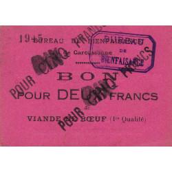 11 - Carcassonne - Bureau de Bienfaisance - 10 francs - Etat : SUP