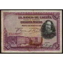 Espagne - Pick 75c - 50 pesetas - 1928 - Série C - Etat : TB
