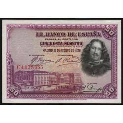 Espagne - Pick 75c - 50 pesetas - 1928 - Série C - Etat : SPL