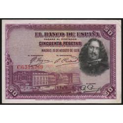 Espagne - Pick 75c - 50 pesetas - 1928 - Série C - Etat : TTB+