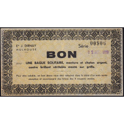 68 - Mulhouse - Ets J. Dirnay - Bon - 1939 - Etat : SUP