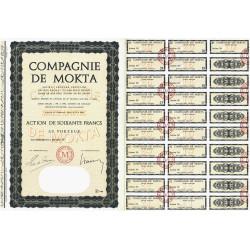 Algérie - Compagnie de Mokta - 60 francs - 1966 - Spécimen - SUP+
