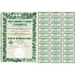 51 - Reims - Soc. Champenoise d'Expansion - 100 NF - 1962 - Spécimen - SUP+
