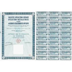 73 - Ugine - Soc. d'Electro-Chim. d'Ugine - 75 francs - 1965 - Spécimen - SUP+