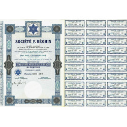 59 - Thumeries - Société F. Béghin - 50 NF - 1962 - Spécimen - SUP+