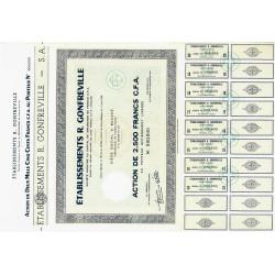 Côte d'Ivoire - Etabl. R. Gonfreville - 2500 francs CFA - 1962 - Spécimen - SUP+