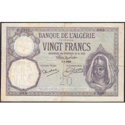 Algérie - Pick 78b - 20 francs - 1929 - Etat : TTB-