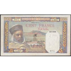 Algérie - Pick 85_1 - 100 francs - 1940 - Etat : TTB+