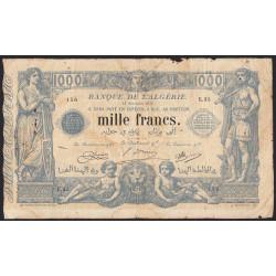 Algérie - Pick 76b_1 - 1'000 francs - 1918 - Etat : TB-