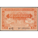 Algérie - Pick 97a - 50 centimes - Série C - 1944 - Etat : SPL