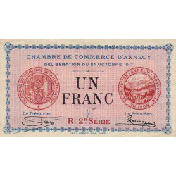 Annecy - Pirot 10-12 - 1 franc - Etat : TTB+