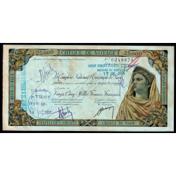 Algérie - Chèque de voyage - 25'000 francs - 1958 - Rouiba - Etat : SUP