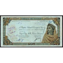 Algérie - Chèque de voyage - 25'000 francs - 1958 - Cherchell - Etat : SUP
