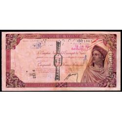 Algérie - Chèque de voyage - 50'000 francs - 1958 - Djidjelli - Etat : SUP