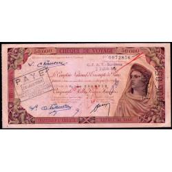 Algérie - Chèque de voyage - 50'000 francs - 1958 - Burdeau - Etat : TTB+