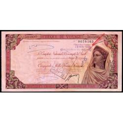 Algérie - Chèque de voyage - 50'000 francs - 1958 - Châteaudun-du-Rhumel - Etat : SUP