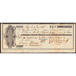 Algérie - Billet à ordre - 1'331 francs - 1852 - Alger - Etat : TTB