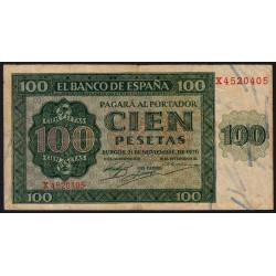 Espagne - Pick 101 - 100 pesetas - 1936 - Série X - Etat : TB+