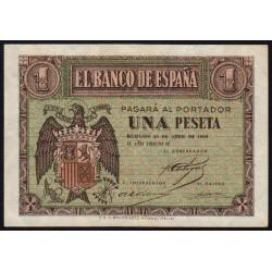 Espagne - Pick 108 - 1 peseta - 1938 - Série G - Etat : TTB+
