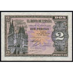 Espagne - Pick 109 - 2 pesetas - 1938 - Série E - Etat : SPL
