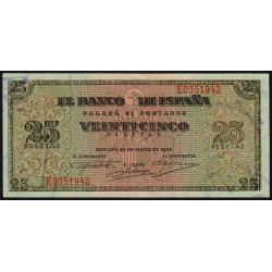 Espagne - Pick 111 - 25 pesetas - 1938 - Série E - Etat : NEUF