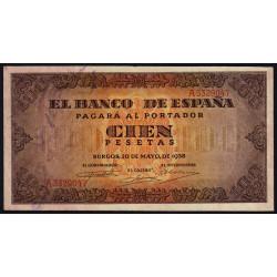 Espagne - Pick 113 - 100 pesetas - 1938 - Série A - Etat : TTB+