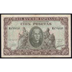Espagne - Pick 118 - 100 pesetas - 1940 - Série D - Etat : TTB