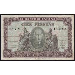 Espagne - Pick 118 - 100 pesetas - 1940 - Série E - Etat : TB+