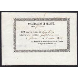 Duché de Savoie - Flumet - 1845 - Billet de 5 livres - Etat : SUP+