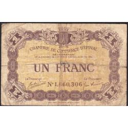 Epinal - Pirot 56-10 - 1 franc - Chiffre 1 - 1920 - Etat : B