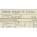 1824 - Bordeaux - Loterie Royale de France - 2 francs - Etat : SUP