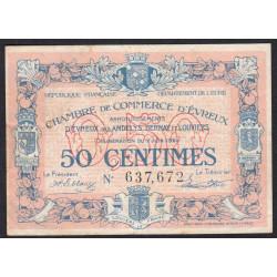 Evreux (Eure) - Pirot 57-16 - 50 centimes - 1920 - Etat : TB