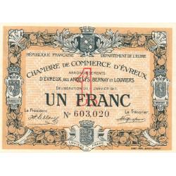 Evreux (Eure) - Pirot 57-11 - 1 franc - 1917 - Etat : SPL+