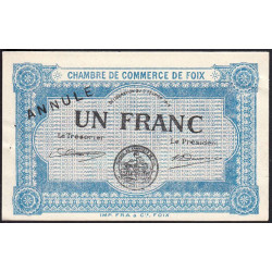 Foix - Pirot 59-04 - 1 franc - Annulé - Etat : SUP+