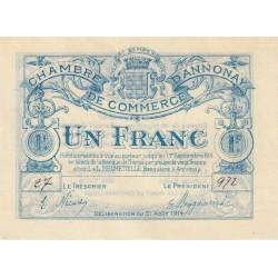Annonay - Pirot 011-04 - 1 franc