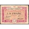 Gray / Vesoul - Pirot 62-17 - 1 franc - 1920 - Etat : B+