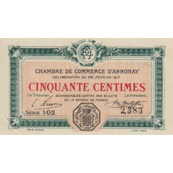 Annonay - Pirot 011-09 - 50 centimes
