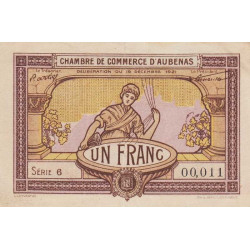 Aubenas - Pirot 014-02 - 1 francs