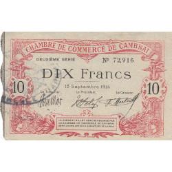 Cambrai - Pirot 37-17 - 10 francs - Etat : TTB