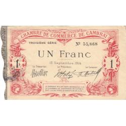 Cambrai - Pirot 37-21 - 1 franc