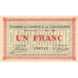 Carcassonne - Pirot 038-17 - 1 franc