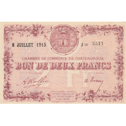 Chateauroux - Pirot 046-13-J - 2 francs