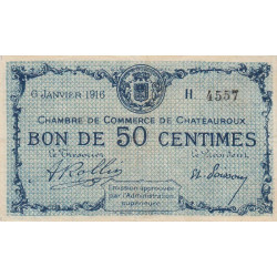 Chateauroux - Pirot 046-14-H - 50 centimes