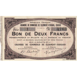 Clermont-Ferrand / Issoire - Pirot 48-02 - 2 francs - Etat : SPL