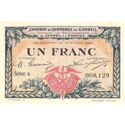 Corbeil - Pirot 50-03 - 1 franc - Etat : SUP