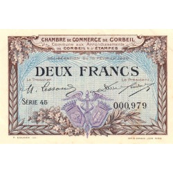 Corbeil - Pirot 50-05 - 2 francs - Etat : SUP+