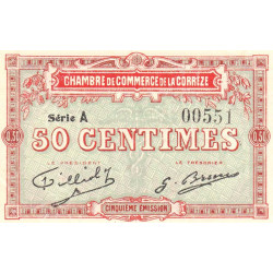 Corrèze / Tulle / Brive - Pirot 51-09-A - 50 centimes