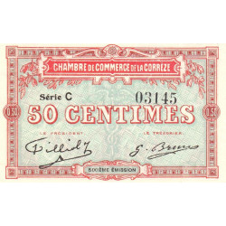 Corrèze / Tulle / Brive - Pirot 51-15-C - 50 centimes