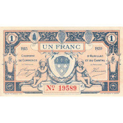Aurillac (Cantal) - Pirot 016-04-A - 1 franc