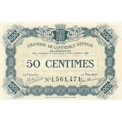 Epinal - Pirot 56-09 - 50 centimes - Chiffre 1 - 1920 - Etat : SUP+